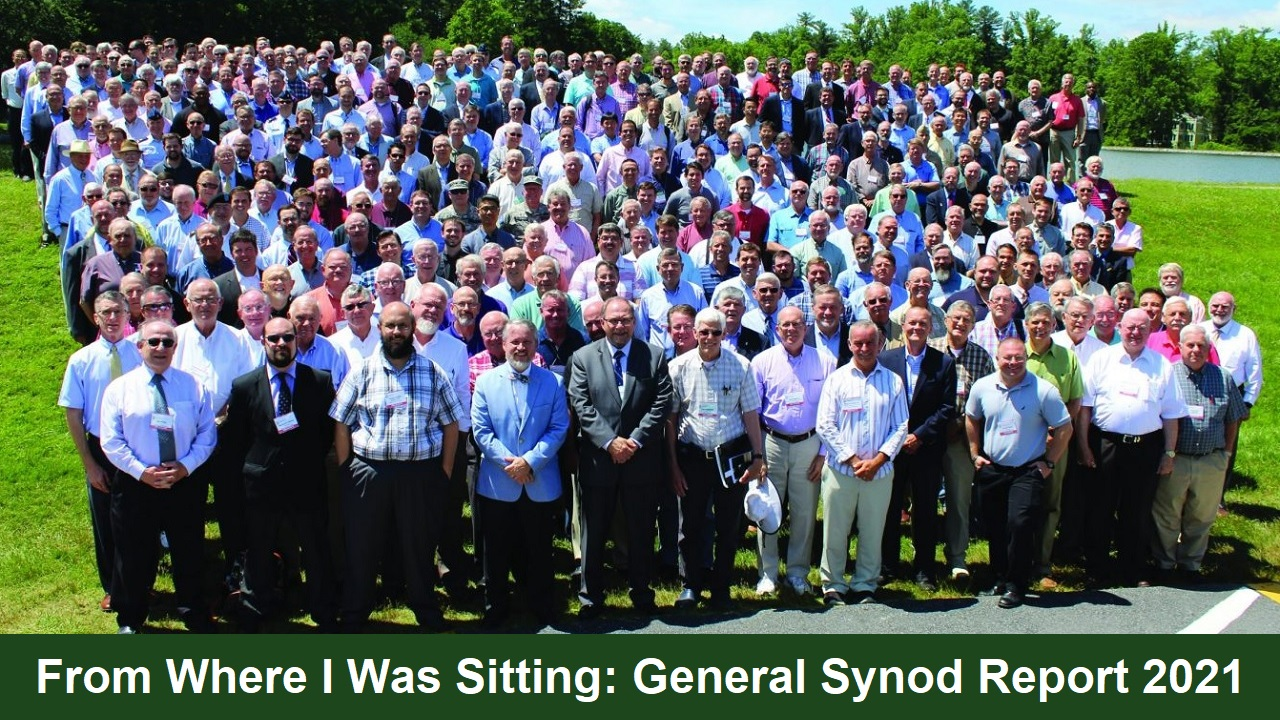 From Where I Was Sitting: General Synod Report 2021